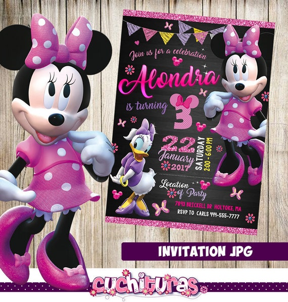 Minnie Mouse Invitation Party