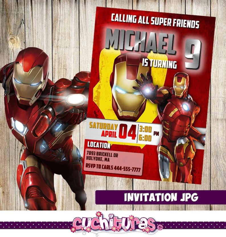 Iron Man Invitation Party Birthday