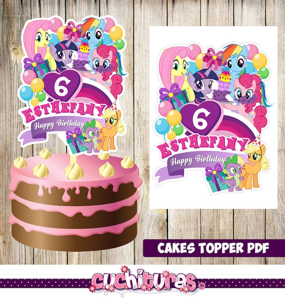 My Little Pony Cakes Toppers Printable Party