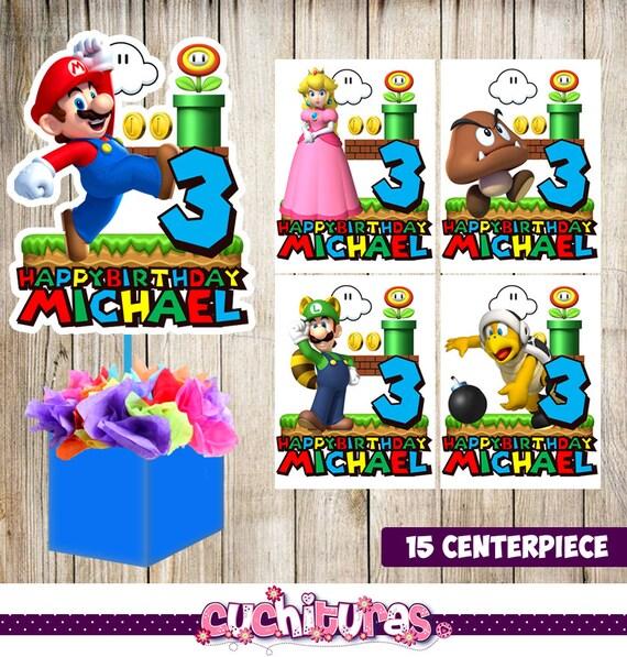 15 Super Mario Bros Centerpieces Printable