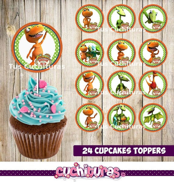24 Dinosaur Train Cupcakes Toppers Instant Download