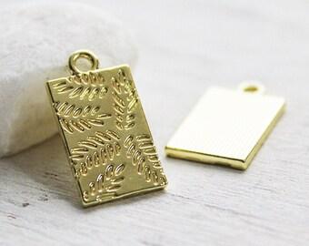 5 pieces - amulet pendant - light gold