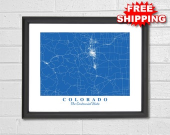Vail Colorado Map State.Custom Vail Map Etsy