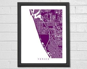 Venice Florida Map Etsy