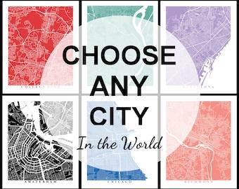 City Maps Etsy - Decorative maps for sale