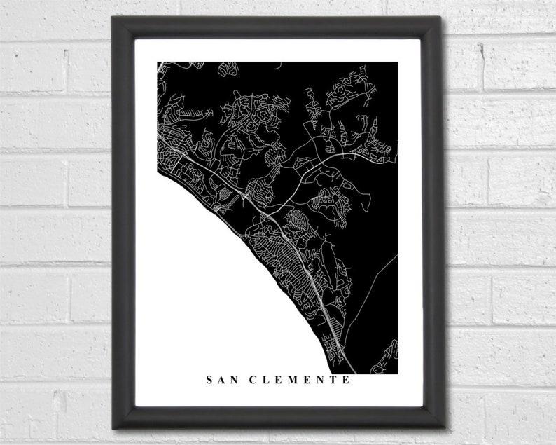 Custom Map San Clemente Map Art California Map Print City Map Maps Prints World Gift Office Decor Travel Interior Design