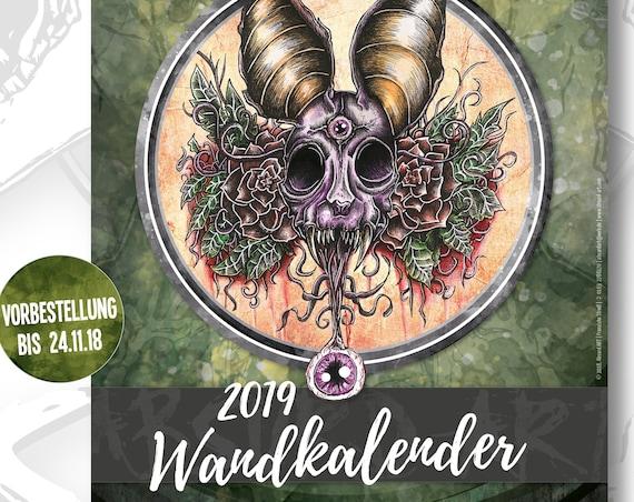 Pre-Order - A4 Wandkalender 2019, Absurd ART (Versand Anfang Dezember)