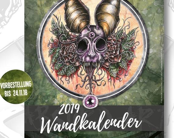 Pre-Order - A3 Wandkalender 2019, Absurd ART (Versand Anfang Dezember)