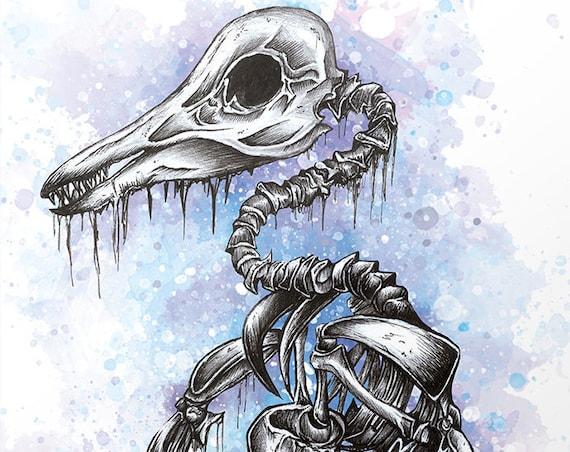 """""""Pinguin"""" Serie: Knochentierchen Print"""