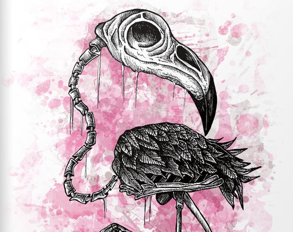 """Flamingo"" Serie: Knochentierchen Print"