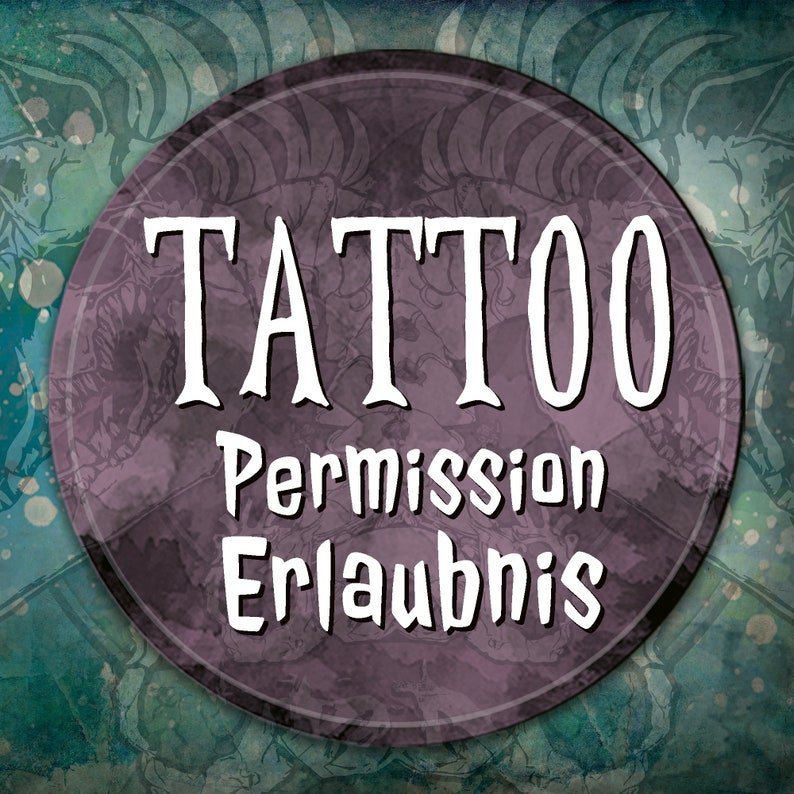 Tattoo  permission permission for one of my artworks image 0