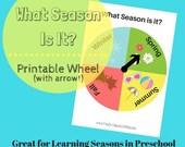 Classroom Learning Wheel What Season is it? For Preschool, Kindergarten, or Homeschool