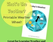 Classroom Learning Wheel What is the Weather? Printable pdf for preschool, kindergarten, or homeschool