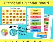 Classroom Calendar Board PDF Printable for Preschool, Kindergarten, and Homeschool Kids