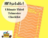 Ultimate Third Trimester Checklist PDF Printable Download