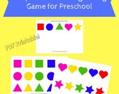 PDF Printable Preschool Activity Sheet-Sort and Organize the Shapes and Colors