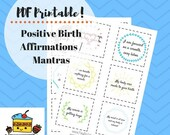 Positive Birth Affirmations / Mantras PDF Printable
