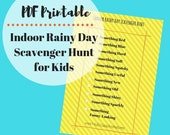 Indoor Rainy or Snowy Day Scavenger Hunt Game List to Entertain Kids Inside