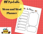 PDF Printable of Dry Erase Magnetic Weekly Menu Meal Planner for Refrigerator