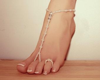 228229443f76 Barefoot Sandals   Beach Sandals   Yoga Shoes   Pearl Barefoot Sandal    Bridesmaid Barefoot Sandals   Wedding barefoot sandals