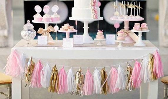 Pink and Purple Tassel Garland Nursery Bridal Shower Decor Kids room Girl