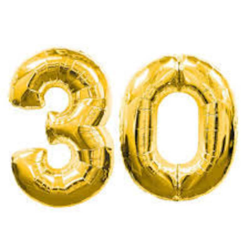30 Gold Number Balloon Jumbo Huge Giant Large 30th Birthday
