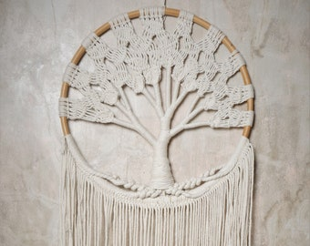 Tree of Life Macrame Wall Hanging / Large Macrame Wall Hanging / Dreamcatcher / Tree of Life Dreamcatcher