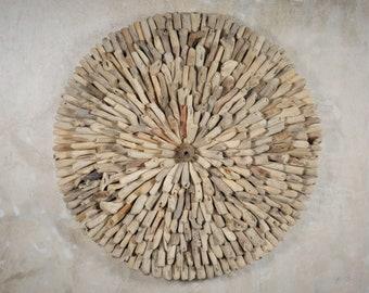 Driftwood Wall Decor - Driftwood Art -Round Wall Decor - Boho Wall Decor - Beach Decor - Recycled Wood