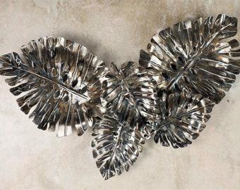 Minimalist Leaf Wall Decor - Iron Hanging Metal Art - Metal Monstera Leaf - Decorative Metal Leaves - Modern Metal Leaf Wall Decor -