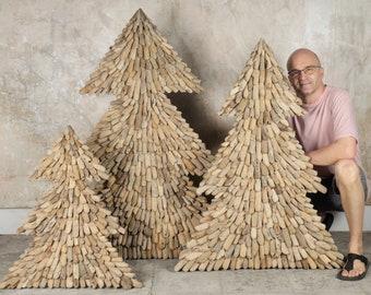 Driftwood Christmas Tree - Driftwood Decor - Driftwood Art - Christmas Decor - Recycled Wood