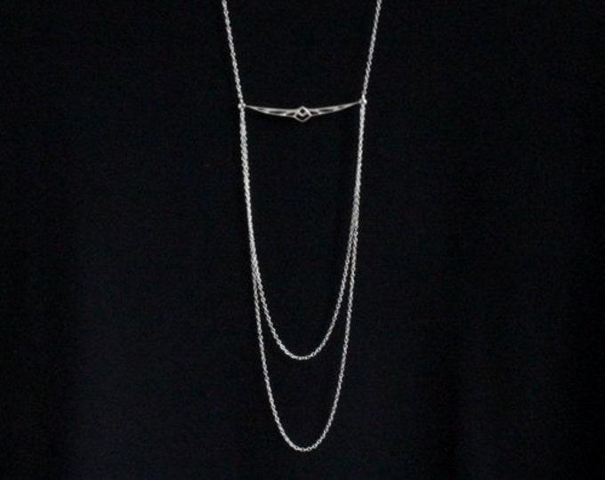 Geometric Phoenix Multistrand Necklace