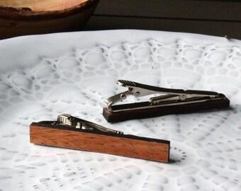 Mahogany Wood Tie Clip