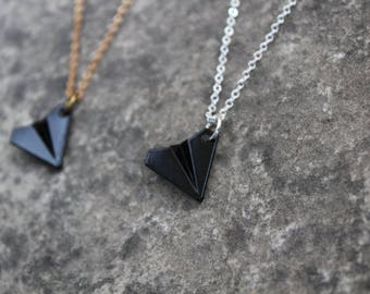 Origami Airplane Necklace