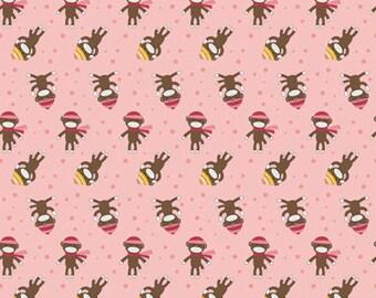 Sock Monkey Flannel - Riley Blake Designs