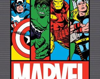 Marvel Comic Fabric Panel