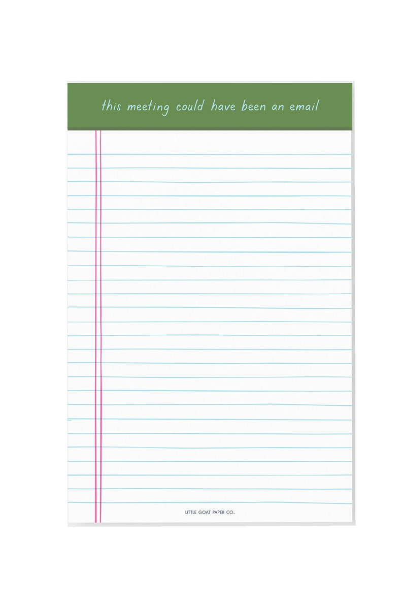 work BFF This Meeting Could Have Been an Email Notepad  funny coworker hustle snarky notepad office gift work wife, snarky gift
