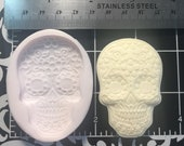 Dia de los Muertos Halloween Silicone Mold, skull, fondant, Clay, Resin, Gumpaste, Jewelry