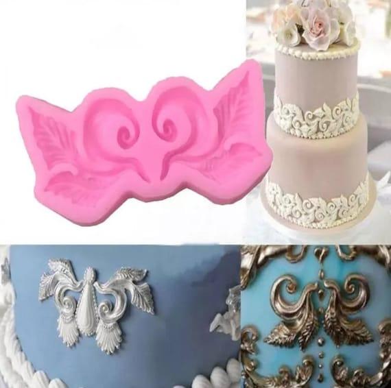 Vintage lace frame Silicone fondant mold cake decorating tool chocolate mould HK