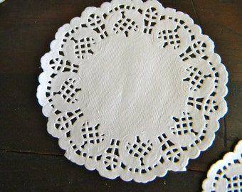 Doilies Round Shaped Lace Dollies 4.5 Inch White Set of 60
