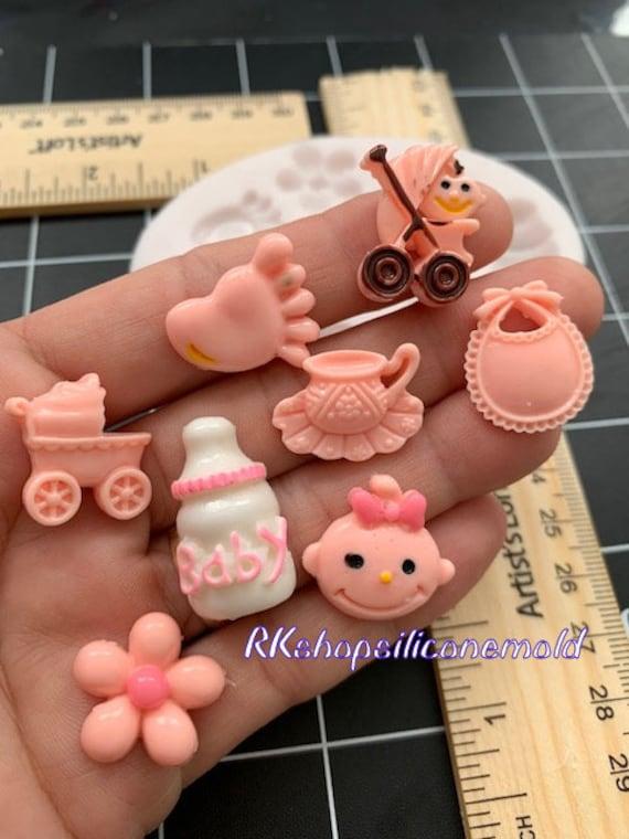Baby Shower Pram Pushchair Silicone Icing Mould Baking Cake Topping Sugar craft