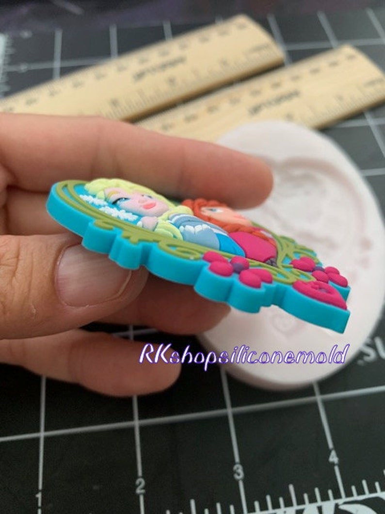 Cartoon Character Heart Princess silicone mold Girls-Girl-Fondant-Resin-Gumpaste-Clay-Candy-Jewelry-crafts