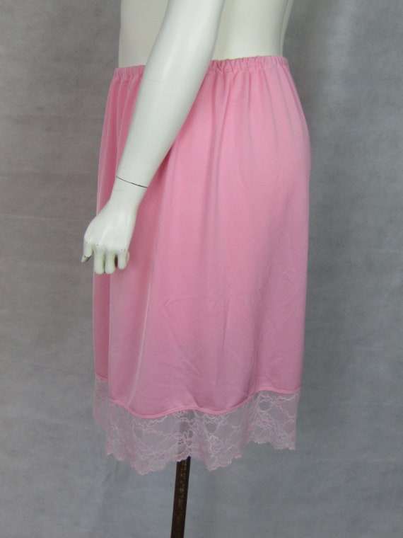 Super Plus size Pink Half SlipUnderskirt with Lace Trim Size XXXL 3436