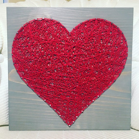 Heart String Art Love And Romance Gallery Wall Wedding Etsy