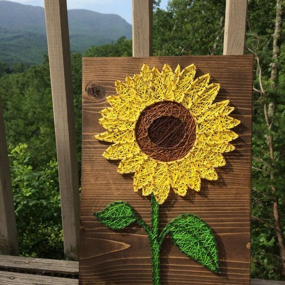 Small Sunflower String Art Sign Sunflower wall art Flower