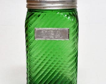 1930s Owens Illinois Coffee Canister Pantry Jar