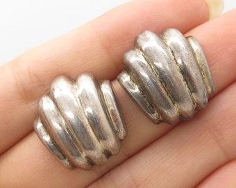 8e0712ce7 Vtg Barra 925 Sterling Silver Gold Posts Hollow Modernist Earrings