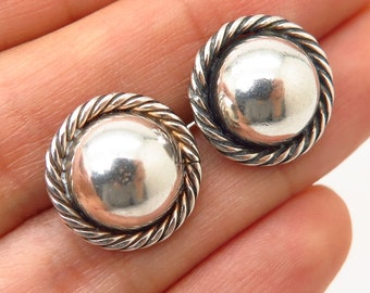 945e5a952 925 Sterling Silver Vintage Barra Hollow Dome Earrings