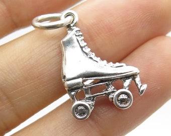 Inline Skate Rollerblade European Dangle Bead Charm Silver Rollerblade Charm for European Bracelet