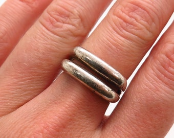 Gift for Her Esposito Design 925 Silver Statement Ring  Size 8-34 J Vintage Modernist Sterling Silver Ring