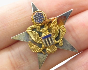 09bc5fbbeec Simon GT Vtg 925 Sterling Silver Military Eagle Lapel Pin